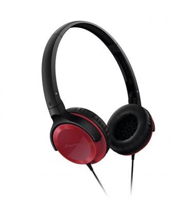 Auriculares Pioneer Cerrado SE-MJ502-R. Rojo-Negro