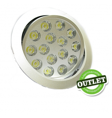 Downlight LED Interior 15W Bascule. Luz Cálida