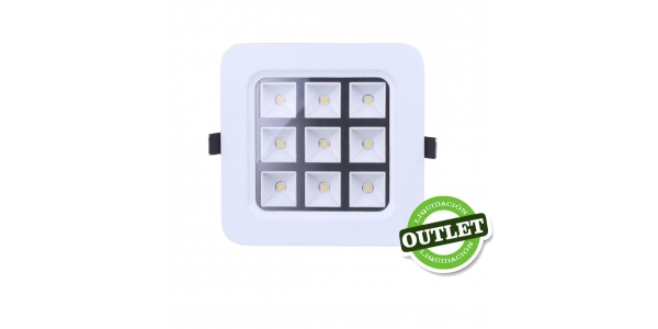 Foco Empotrar LED Interior 9W Round / Difusor Opaco
