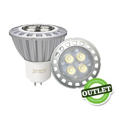 Bombilla LED MR16 7W 220V Aluminio. 3000k