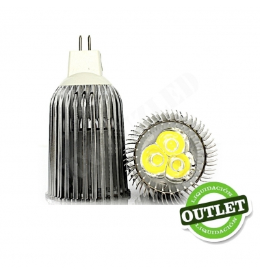 Bombilla LED MR16 9W Aluminio Economic