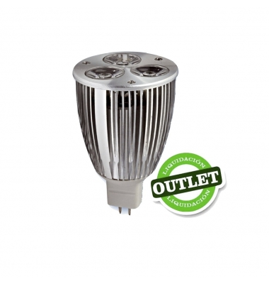 Bombilla LED MR16 6W Aluminio Economic