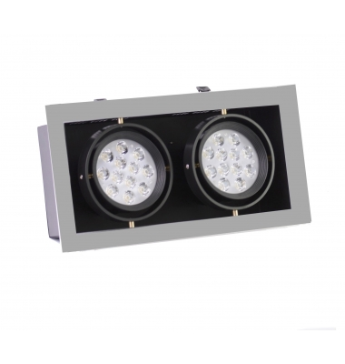 Foco Empotrar LED Interior 28W Indra 2 luces