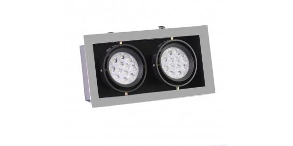 Foco Empotrar LED Interior 28W Indra 2 luces