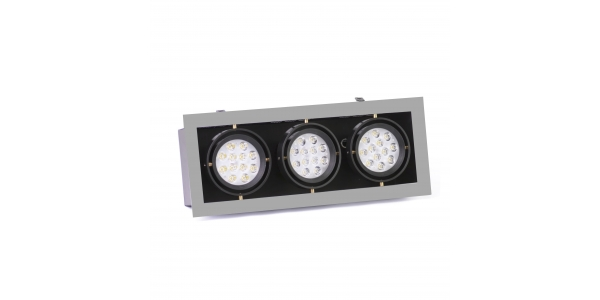 Foco Empotrar LED Interior 42W Indra 3 luces