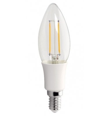 Bombilla LED E14 Vela 3W. Decorativa