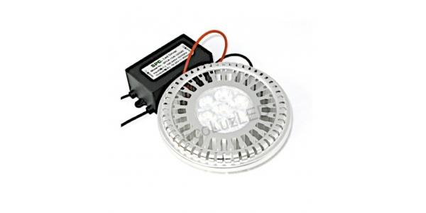 Bombilla LED AR111 10W, Blanco Frío, Ángulo 60º, 540 Lm