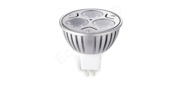 Bombilla LED MR16 3W Aluminio Economic