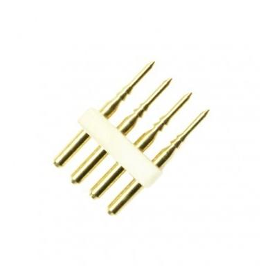 uníón 4 Pin Tira 220V. 4.8W y 14.4W RGB