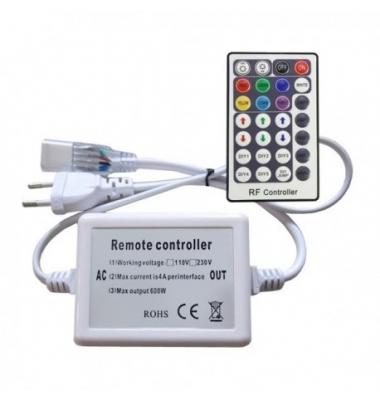 Controlador Tiras RGB de 220V. Con mando a distancia. Máximo 800W