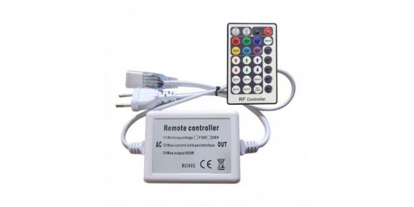 Controlador 800W. Tira 220V.RGB