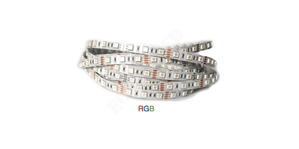 Tira LED 14.4W/m 12VDC RGB Flexible 5m (30 LEDs/m) Interior IP20