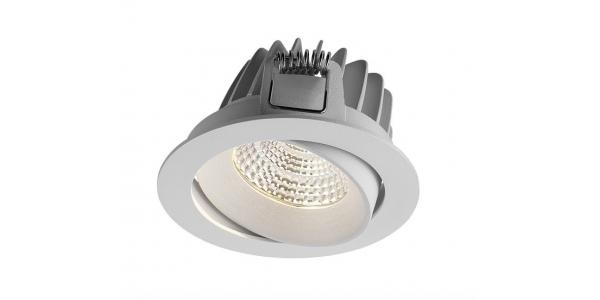 Foco Empotrable LED Tegal, Blanco, 10W, Basculante, LED Sharp. Ángulo 60º. Blanco Cálido