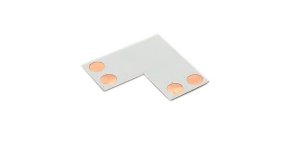 Conector LED Monocolor giros y esquinas 10mm