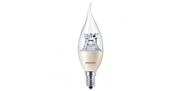 Bombilla LED Philips Vela Lujo E14 6W 360º - 2700k Regulable