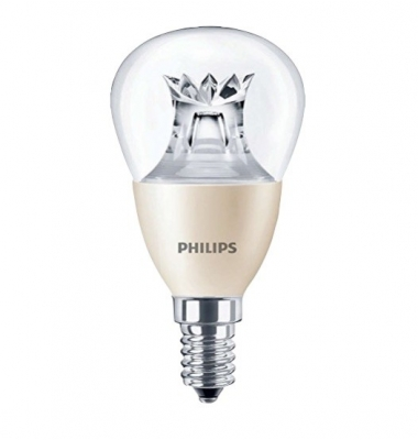 Bombilla LED Philips Esférica E14 6W 360º - 2700k Regulable