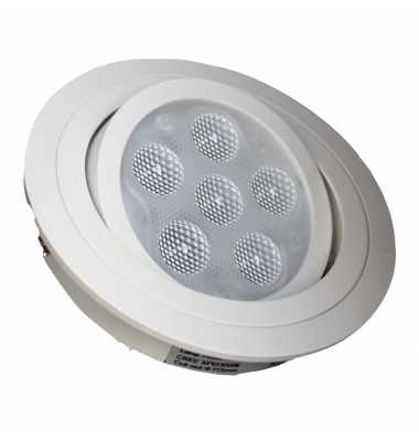 Downlight LED 18W Publise II. Blanco Mate. 1400 Lm. Ángulo 60º. Blanco Cálido