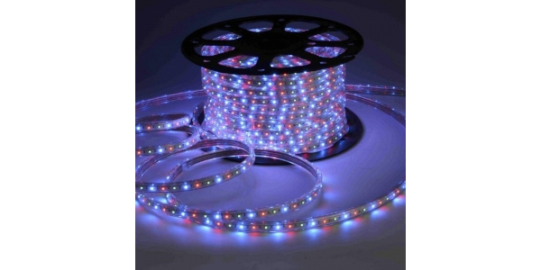 Tira LED 14.4W/m RGB 220VAC Flexible (60LEDs/m) SMD5050