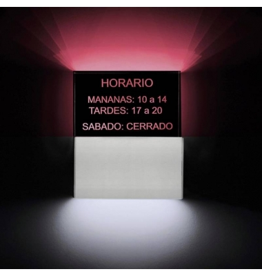 Aplique Pared LED Horario. 9W. Fabricados a medida