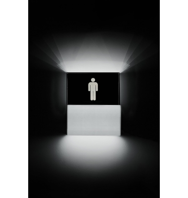 Aplique Pared LED Toilette Hombre. 9W. Fabricado a medida