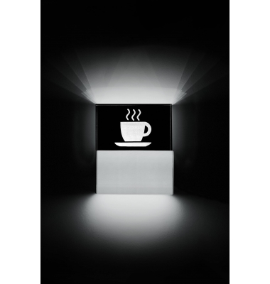 Aplique Pared LED Coffee. 9W. Fabricado a medida