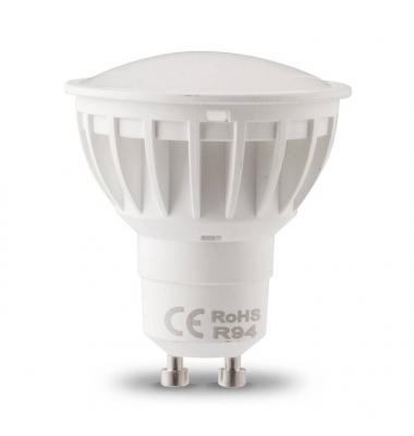Bombilla LED GU10 7W. Regulable. Ángulo 120º.