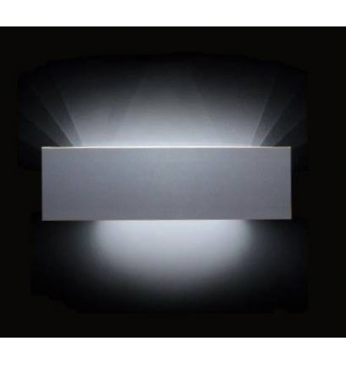 Aplique Pared LED 30 cm. Aluminum. 18W. Luz Cálida