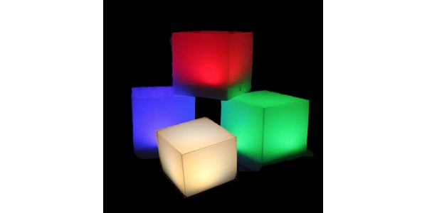 Batery Lamp LED Cubo. 3W. Luz Rojo