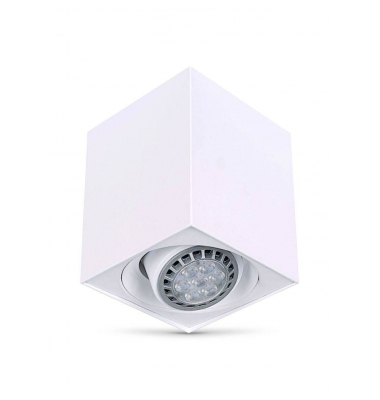 Foco Superficie Orientable LED Surfy Cubo GU10. Blanco Mate.