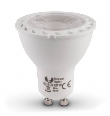 Bombilla LED GU10 7W COB. Ángulo 105º. Aluminio. Elite