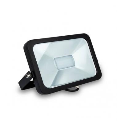 Proyector LED Exterior 30W Flood. Luz Fría. Negro