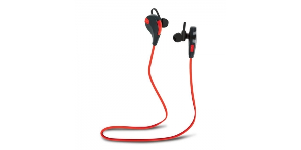 Auriculares Bluetooth BSH-100 Rojo-Negro . Forever