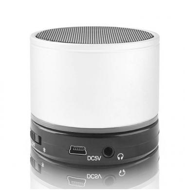 Altavoz Portátil Bluetooth. Micrófono integrado. BS-100 Forever. Blanco