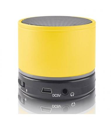 Altavoz Portátil Bluetooth. Micrófono integrado. BS-100 Forever. Amarillo