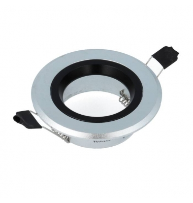 Foco empotrable Aluminio-Negro Redondo