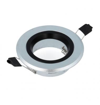 Foco empotrable Aluminio-Negro Redondo. Para Bombillas LED GU10 y MR16