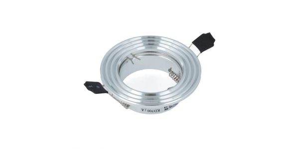 Foco empotrable Aluminio Redondo. Para Bombillas LED GU10 y MR16