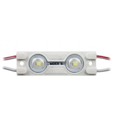 Pastilla LEDs de 2 diodos. 0.78W. SMD2835. Exterior. IP65. Luz Fría