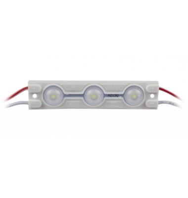 Pastilla LEDs de 3 diodos. 1.44W. SMD2835. Exterior. IP65. Luz Fría