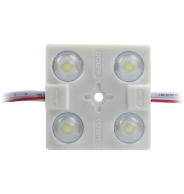 Pastilla LEDs de 4 diodos. 2W. SMD2835. Exterior. IP65. Luz Fría