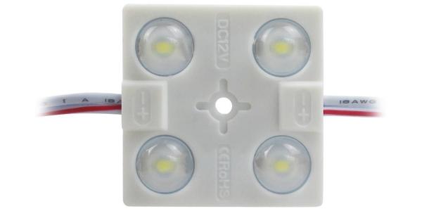 Módulo o Pastilla de 4 Diodos. 1.2W. SMD2835. 104Lm. IP67. Blanco Cálido y Blanco Frío
