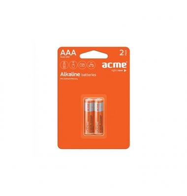 Pila Alcalina LR03-AAA. Blister 2 unidades. ACME