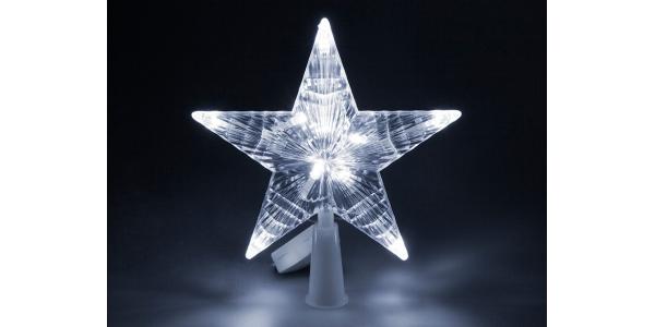 Estrella Luz Navidad. Luz blanca.