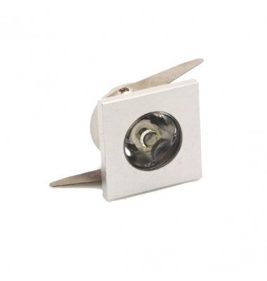 Foco Empotrar LED Waker 1W. IP20 Cuadrado. Ángulo 60º. Blanco Cálido y Blanco Frío