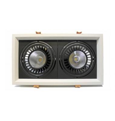 Foco LED Direccionable Nerea Marco Blanco 2*18W. 3000 Lm. Ángulo 60º