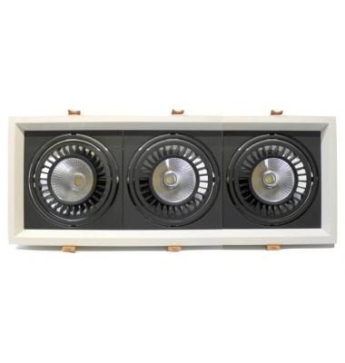 Foco LED Direccionable Nerea Marco Blanco 3*18W. 4500 Lm. Ángulo 60º