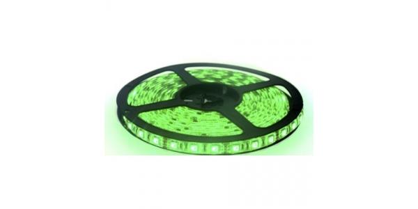 Tira LED 14.4W/m Verde 12VDC IP55 5 metros (60 LEDs x m) SMD5050