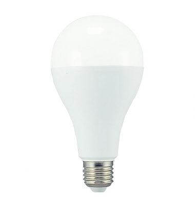 Bombilla LED E27 A60 Estándar 18W. 6000k, Blanco Frío. Ángulo 270º