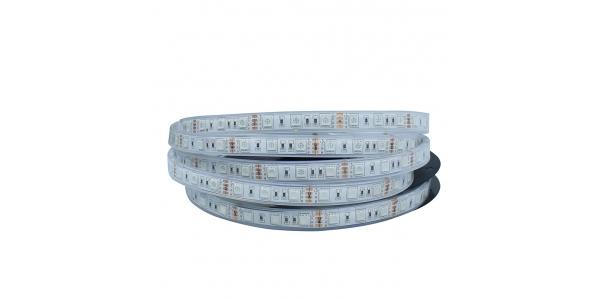Tira RGB 14.4W x mt. 12VDC. Sumergible-IP68. 5mt. (60 LED x m) SMD5050