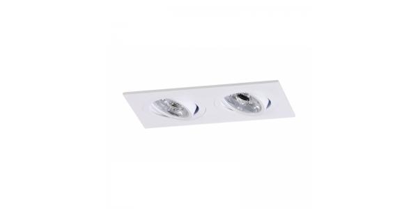 Foco empotrable 2 luces Aluminio. Spot
